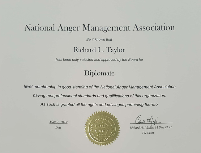National Anger Management Diplomate